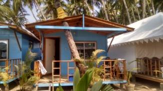 A typical beach hut